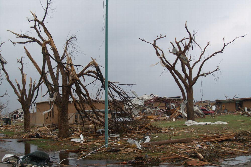 Tornado damage, Greensburg, Kansas - 1