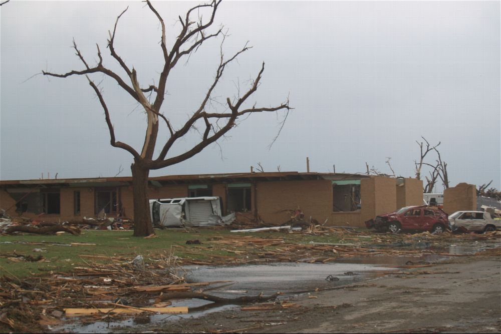 Tornado damage, Greensburg, Kansas - 2