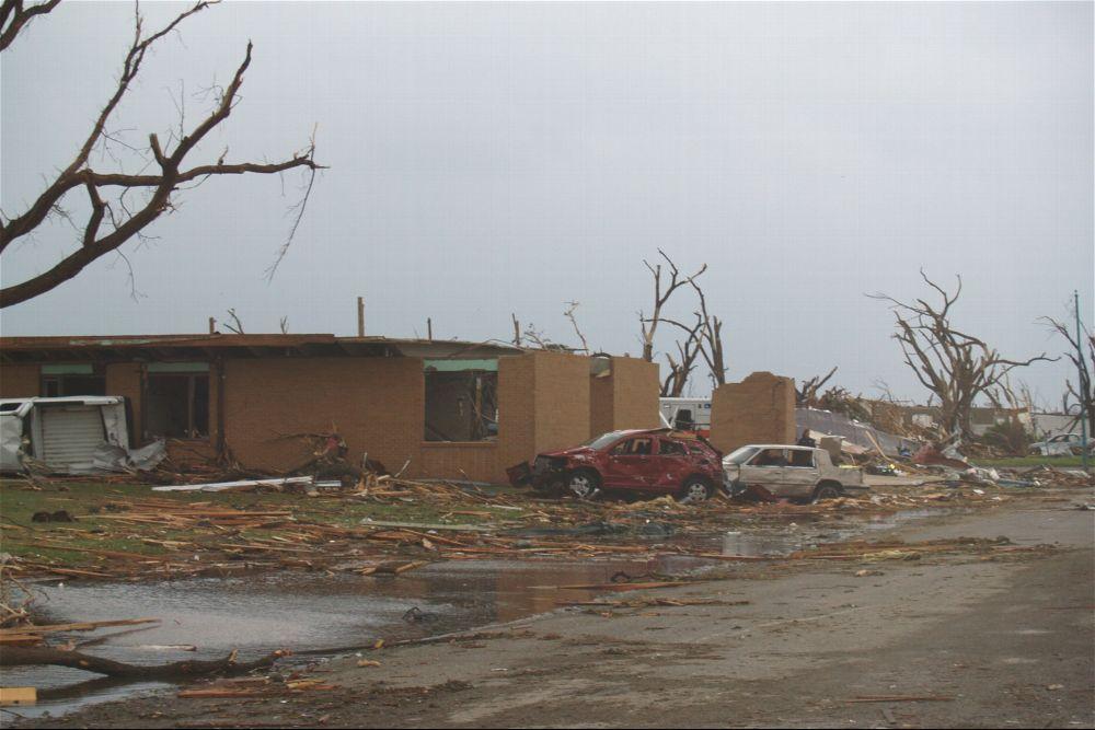 Tornado damage, Greensburg, Kansas - 3