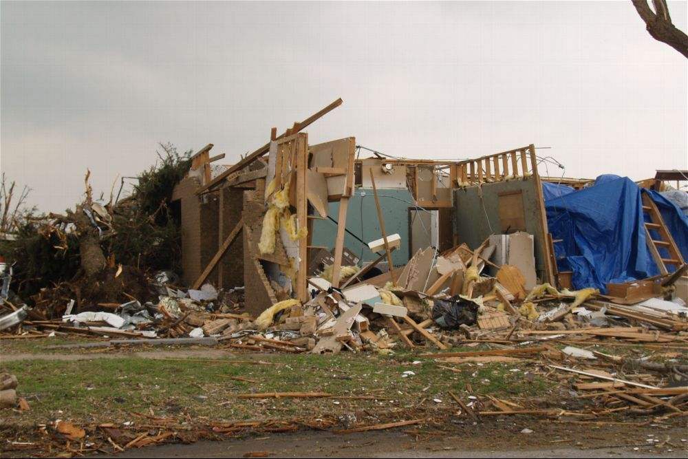 Tornado damage, Greensburg, Kansas - 4