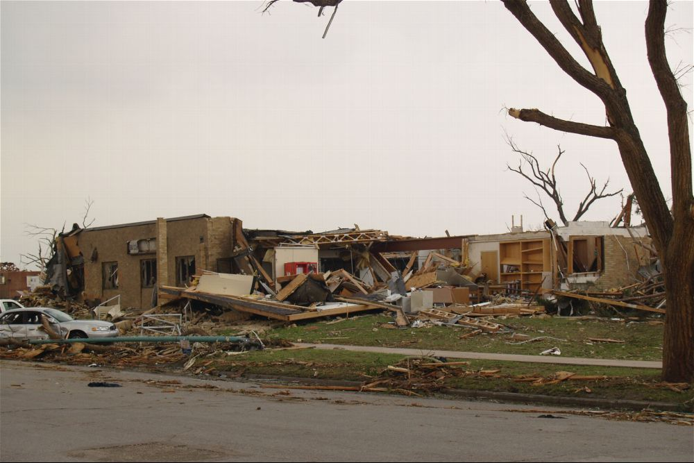 Tornado damage, Greensburg, Kansas - 5