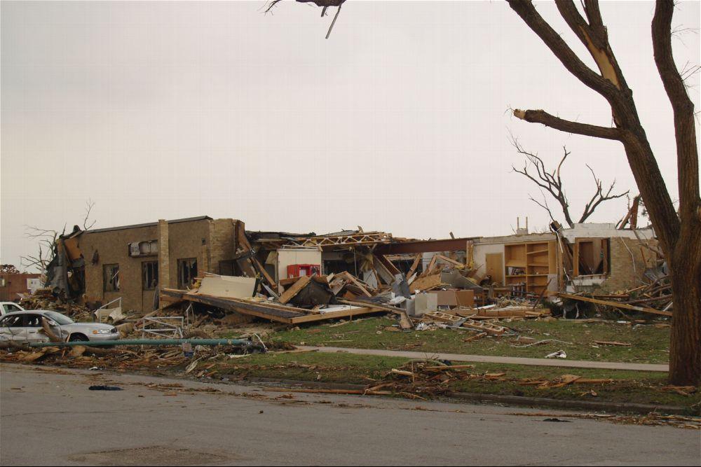 Tornado damage, Greensburg, Kansas - 5