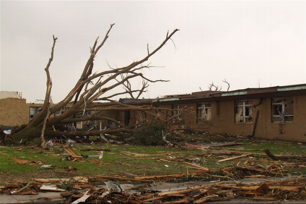 Tornado damage, Greensburg, Kansas - 6