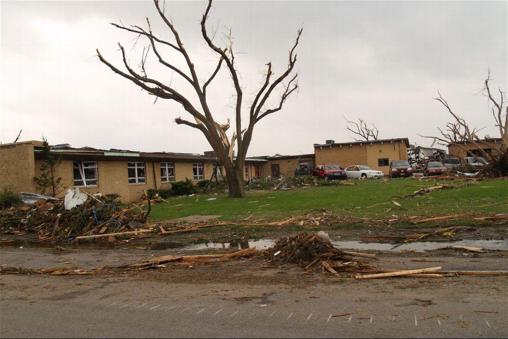 Tornado damage, Greensburg, Kansas - 8