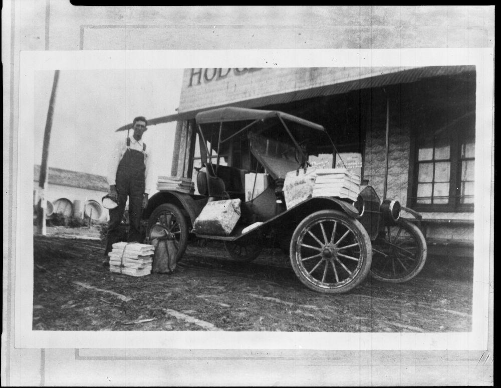 Rural mail carrier, Webber, Kansas