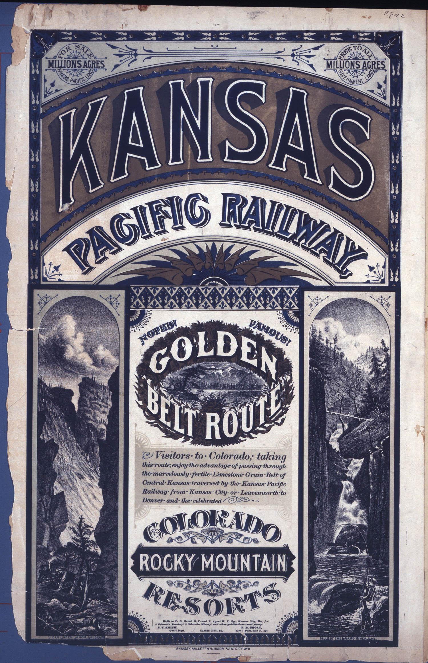 Kansas Pacific Railway golden belt route