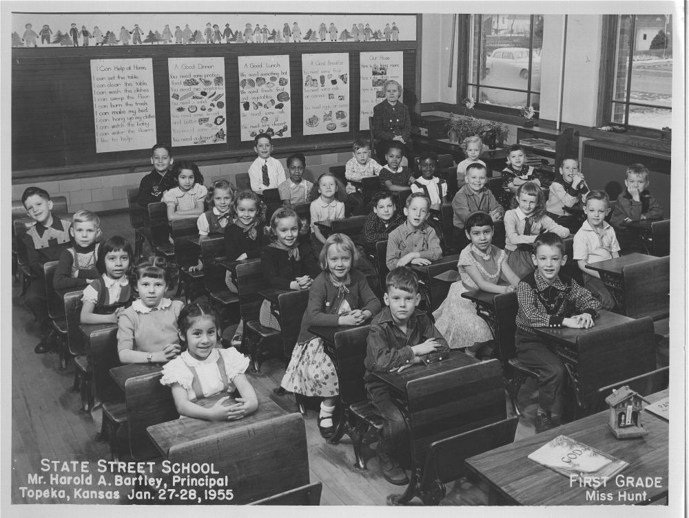 First grade class at State Street School, Topeka