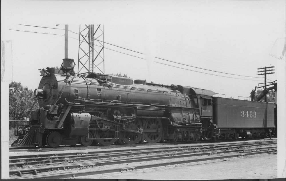 Atchison, Topeka & Santa Fe Railway Company's steam locomotive #3463