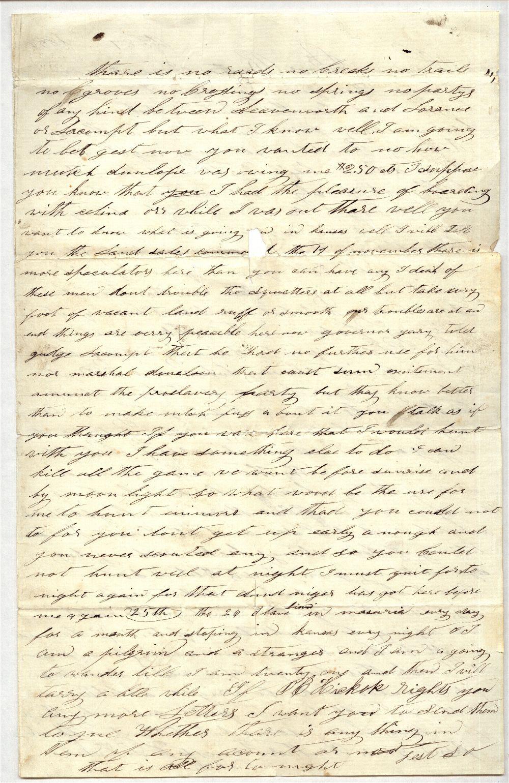 James Butler [Wild Bill] Hickok to Horace D. Hickok - 3
