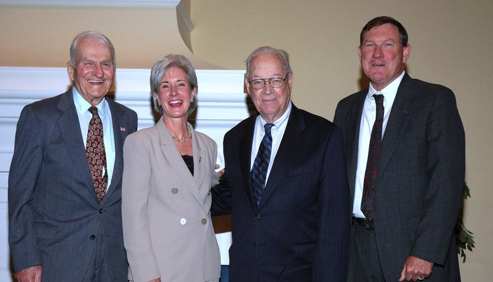 Governors William Henry Avery, Kathleen Sebelius, John Anderson Jr., and John Michael Hayden