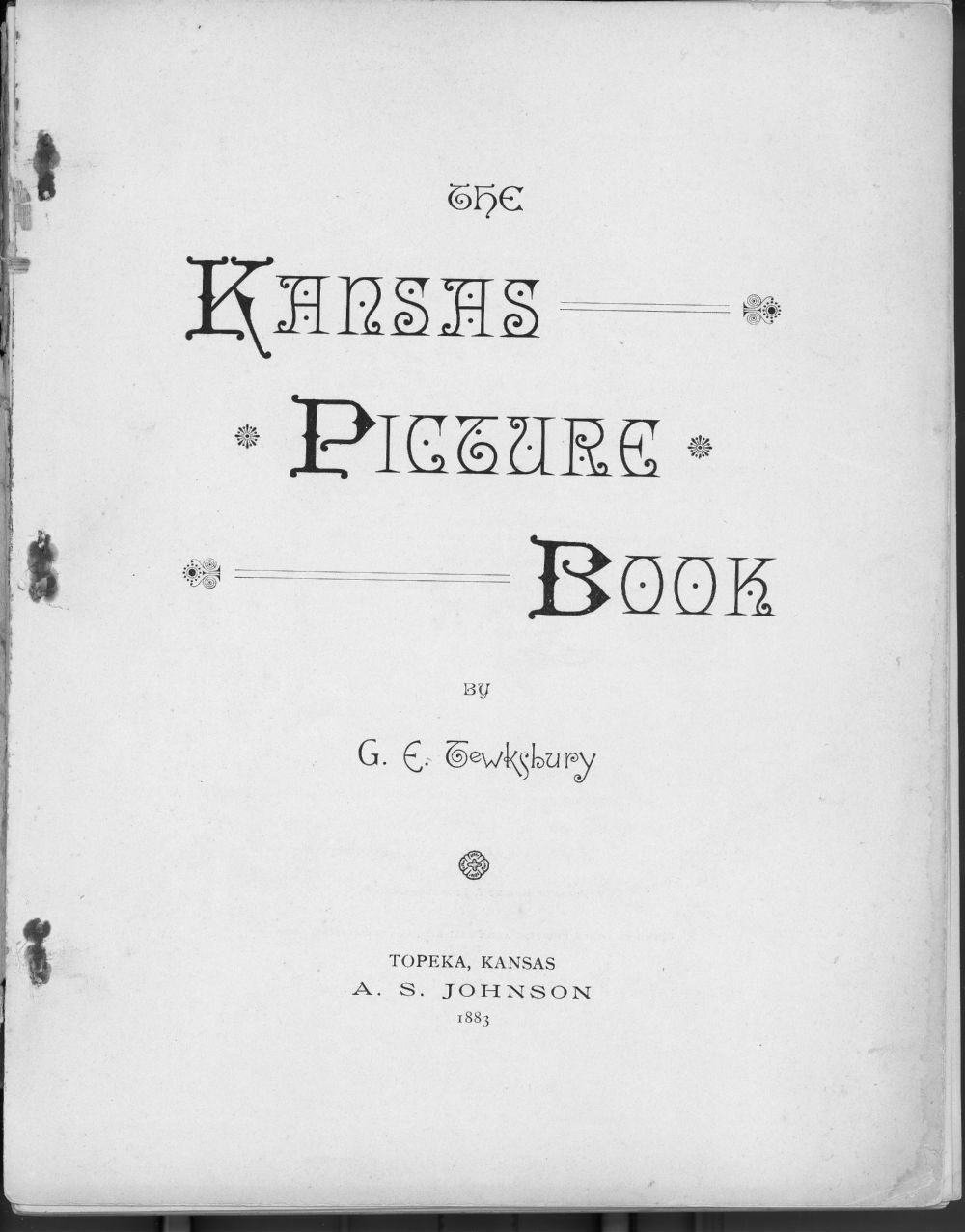 The Kansas picture book - Title Page