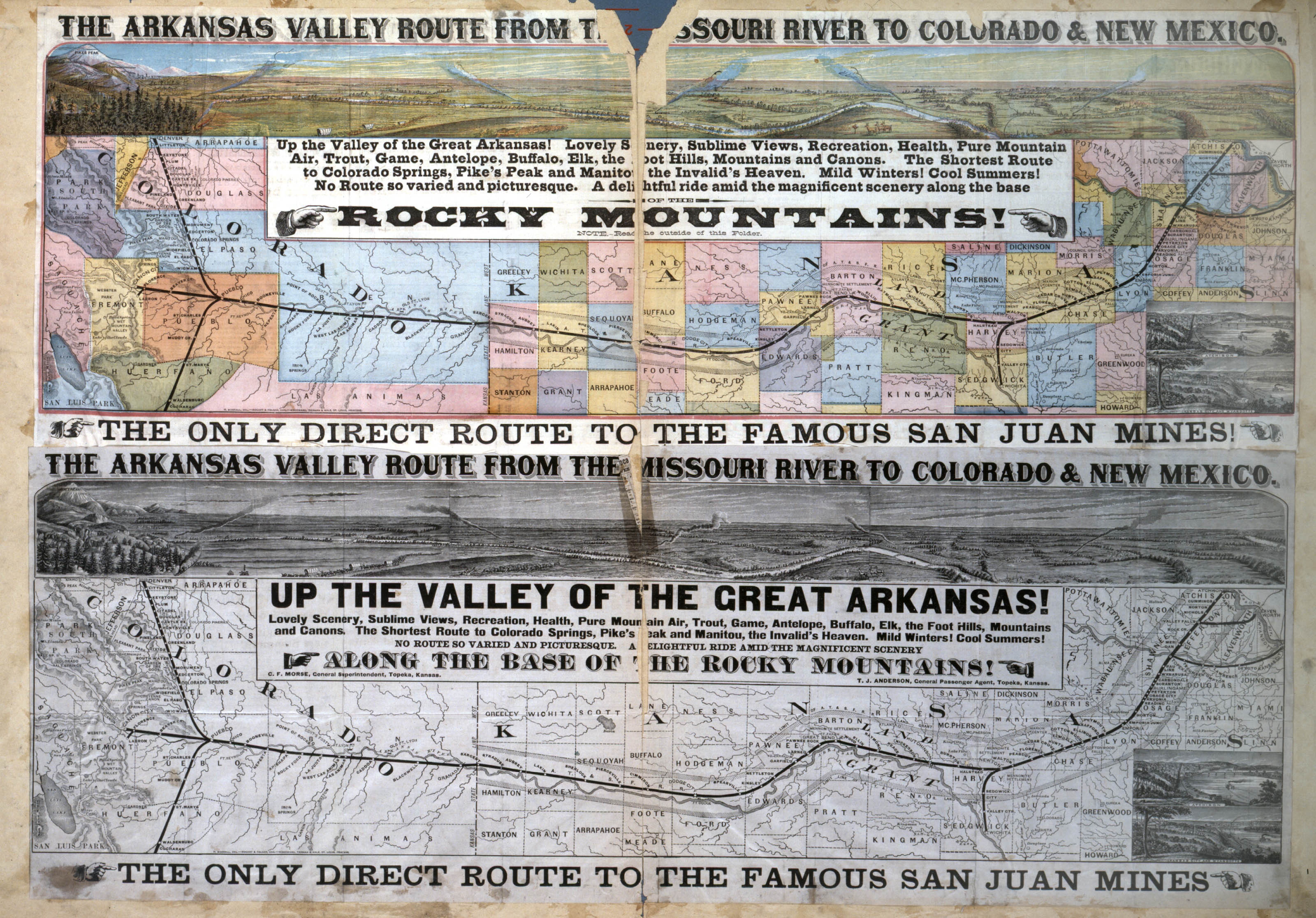 The Arkansas Valley Route from the Missouri River to Colorado and New Mexico