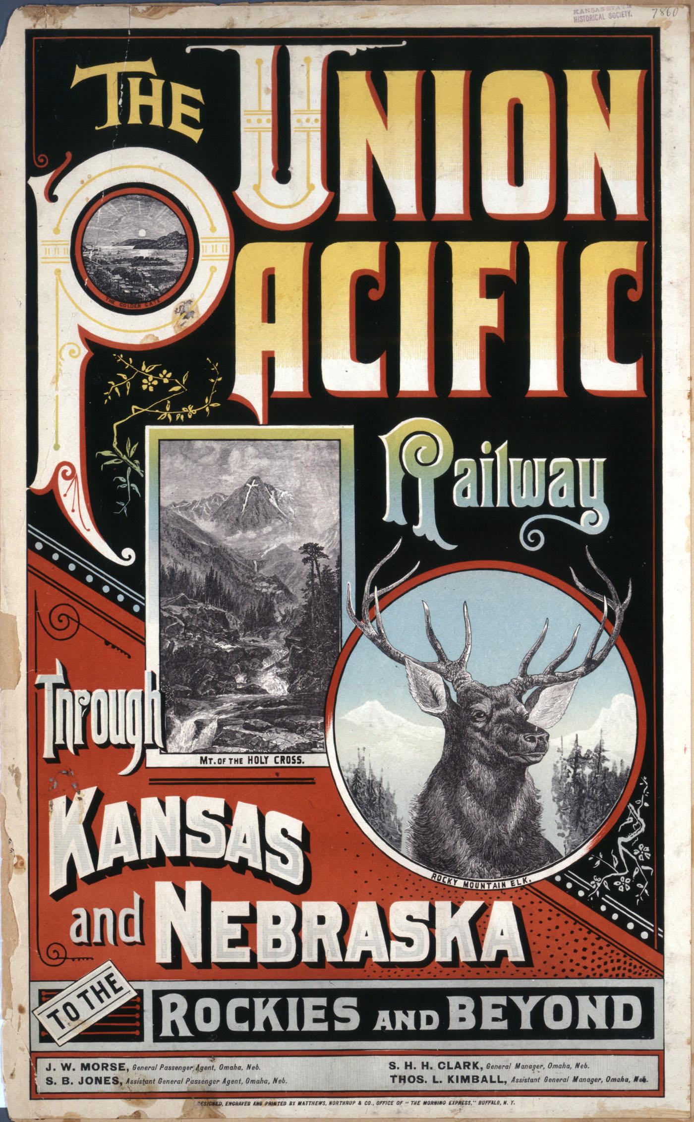 The Union Pacific Railway through Kansas and Nebraska to the Rockies and beyond