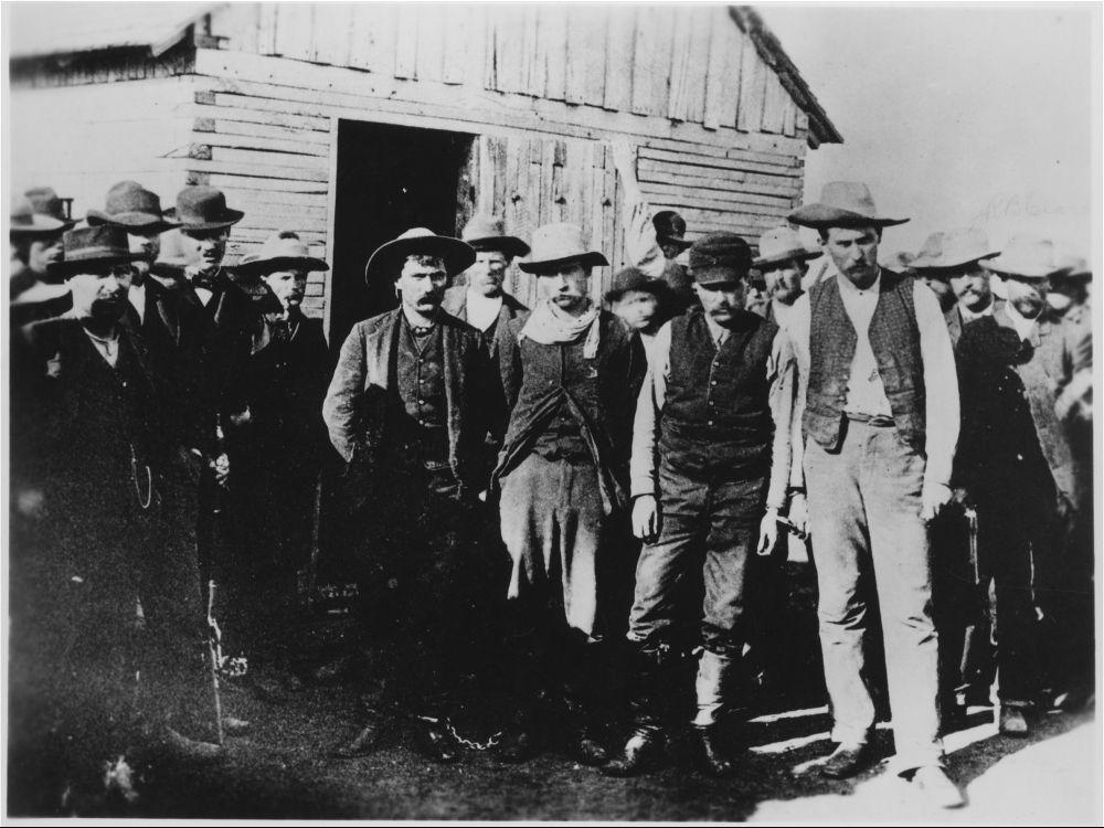 Bank robbers in Medicine Lodge, Kansas
