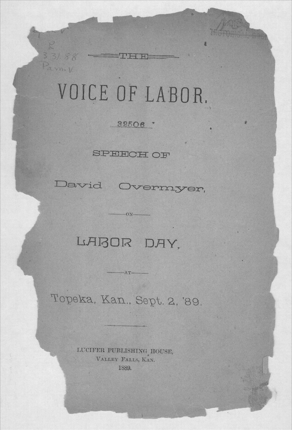 The voice of labor - Front Cover