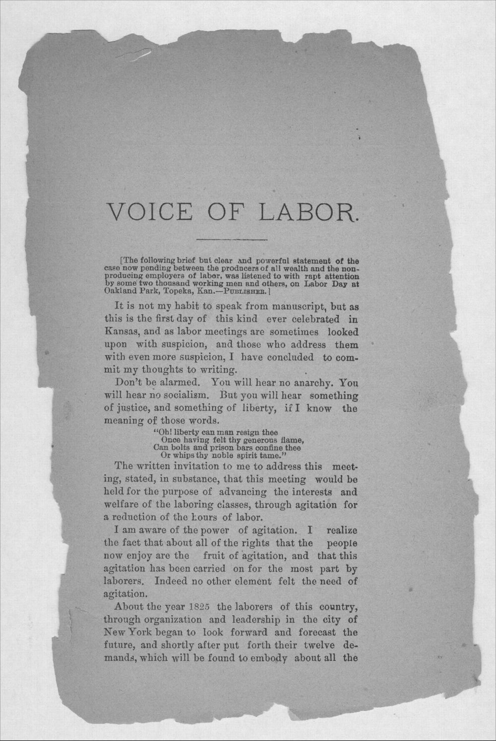 The voice of labor - 3