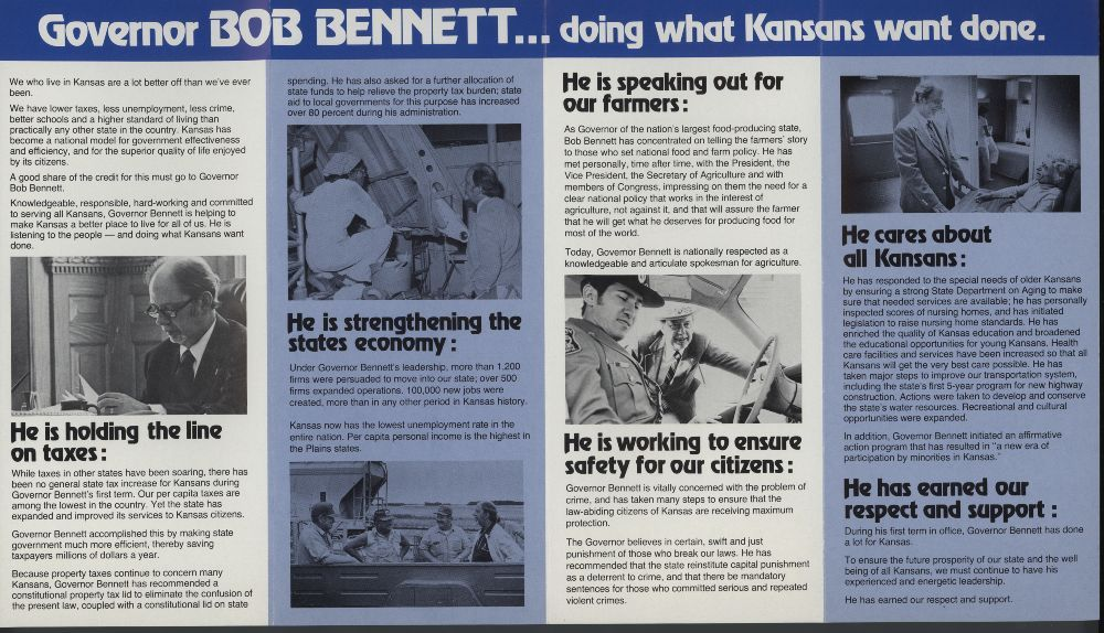 Re-elect Governor Bennett - 2