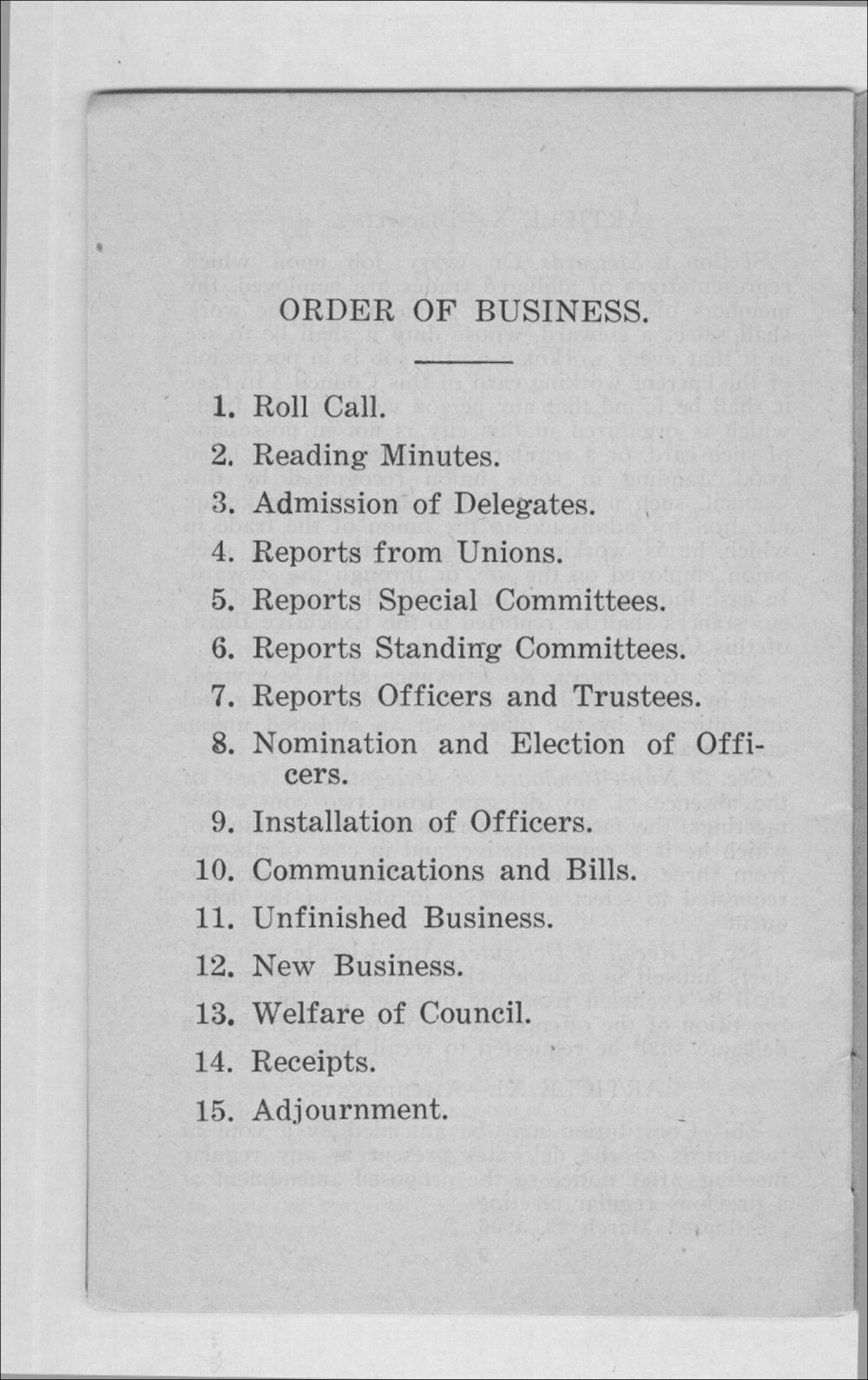 Constitution and by-laws of the Industrial Council - 11