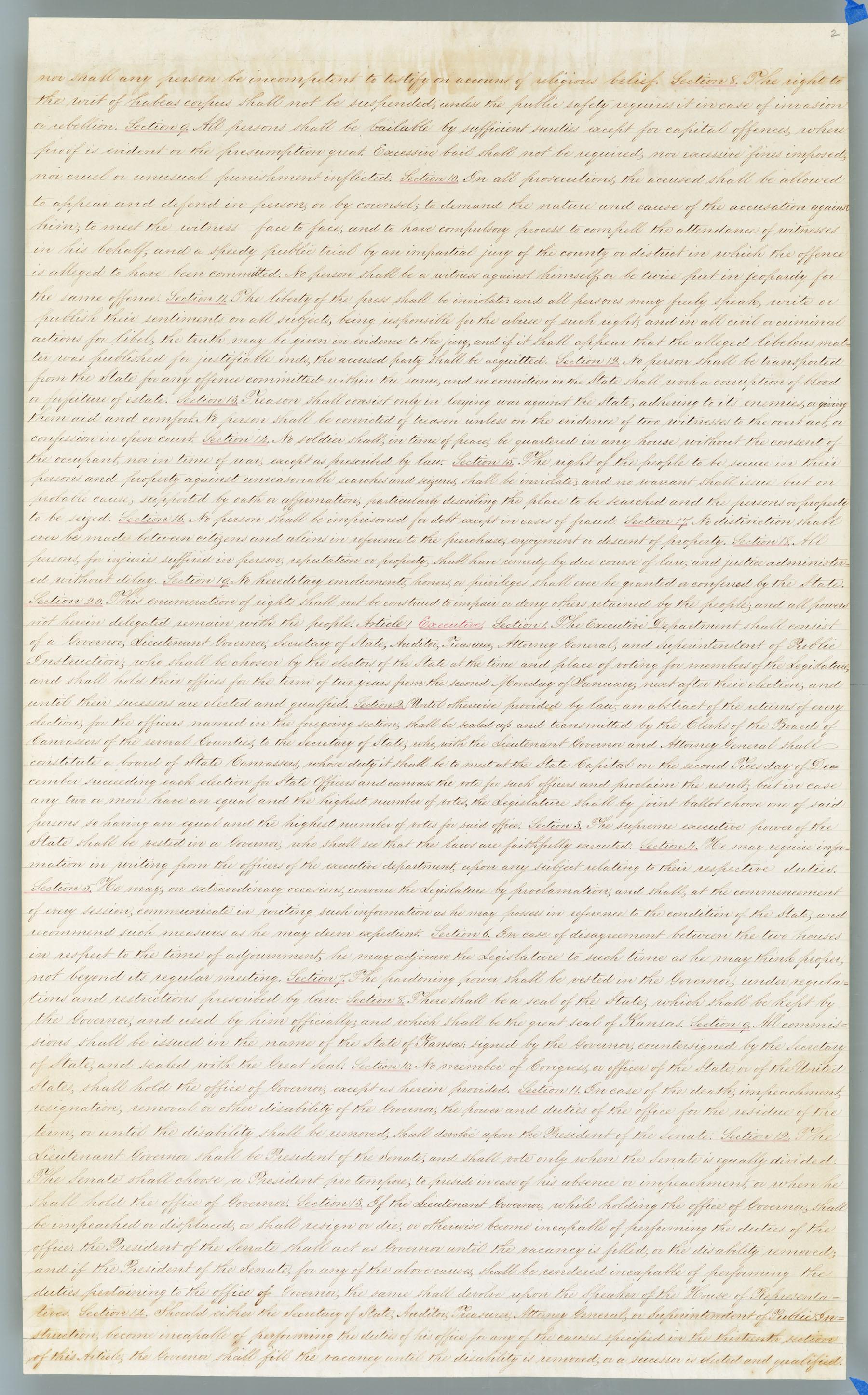 Wyandotte Constitution - 2