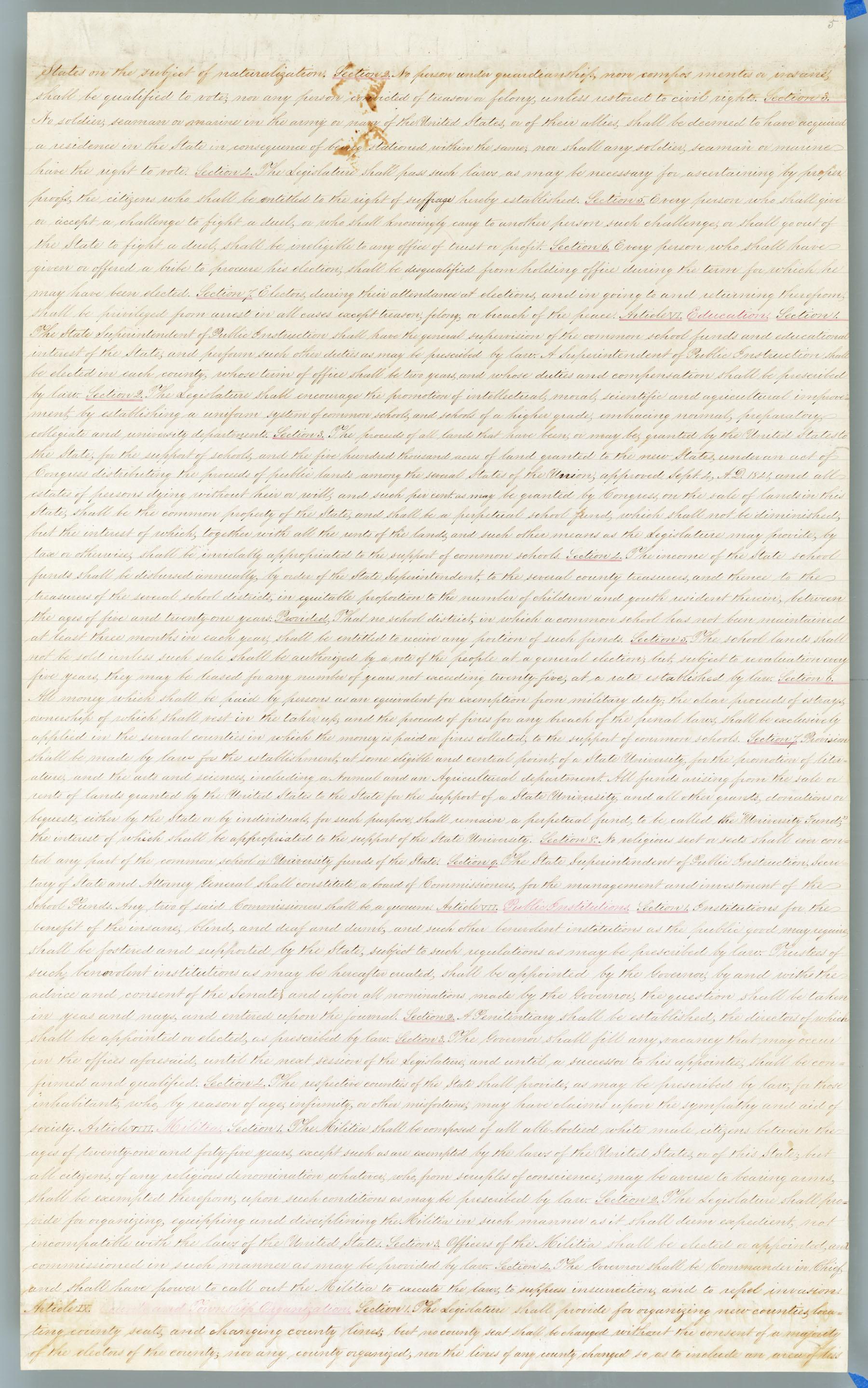 Wyandotte Constitution - 5