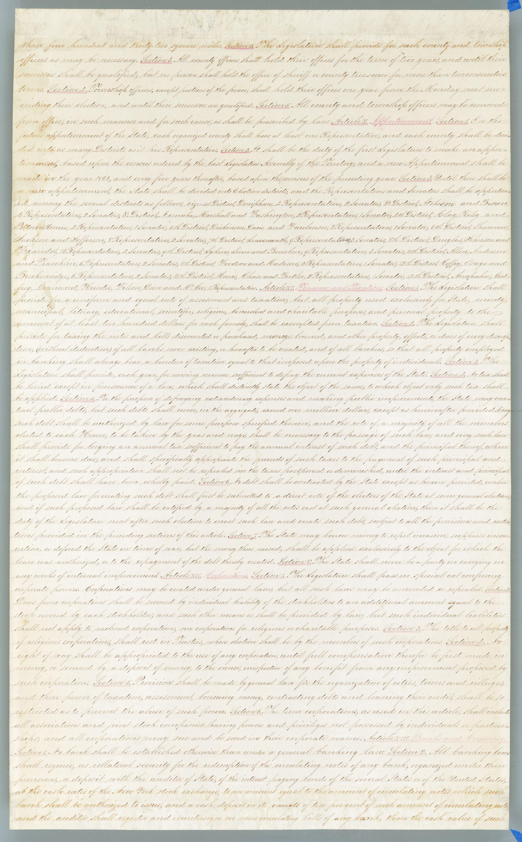 Wyandotte Constitution - 6