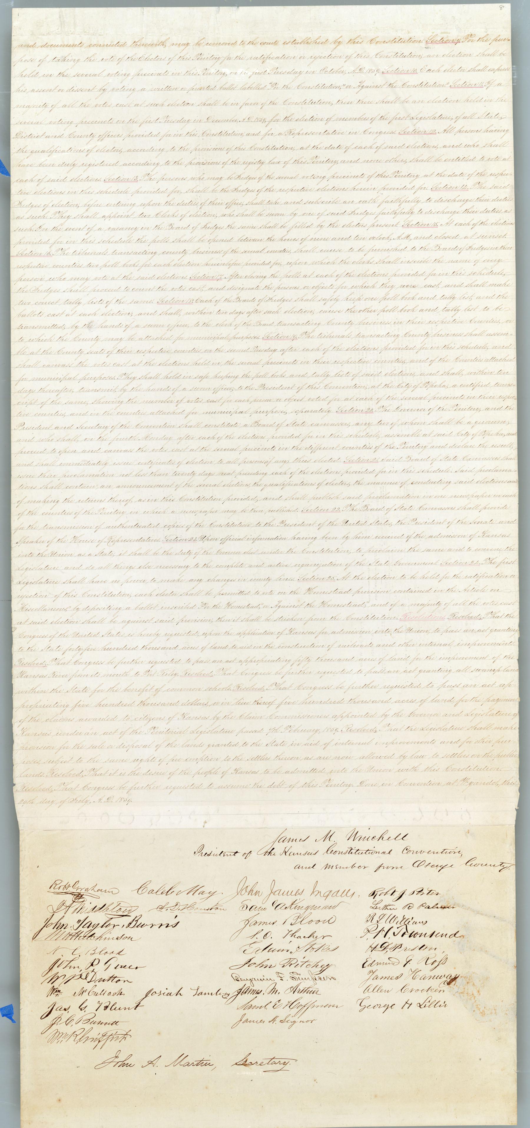 Wyandotte Constitution - 8