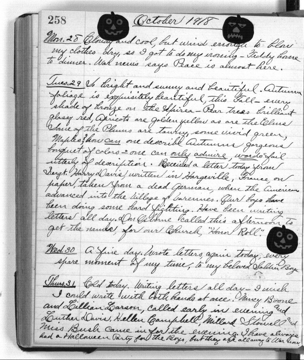 Martha Farnsworth diary - 258