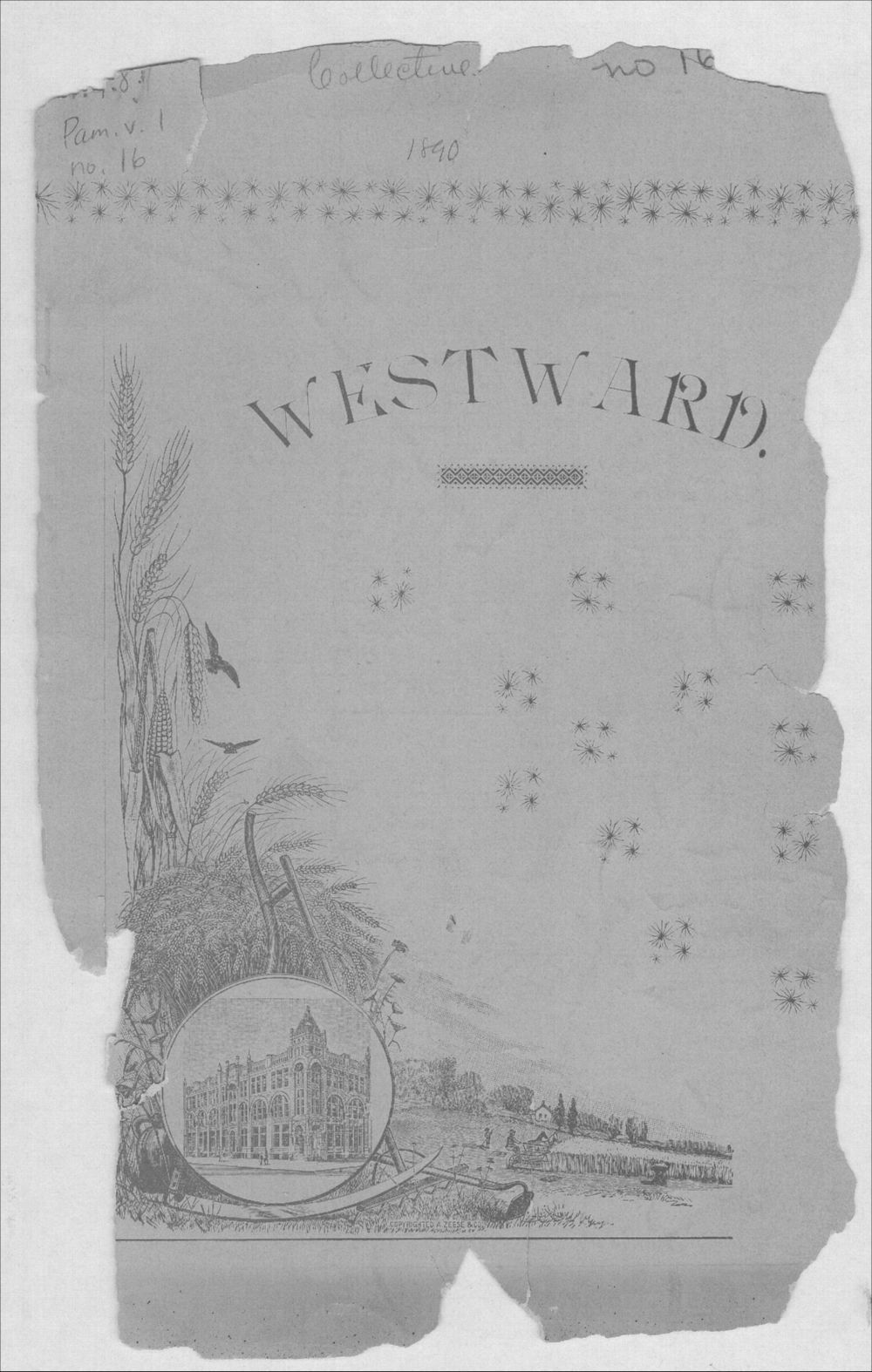 Westward or central western Kansas - Front Cover