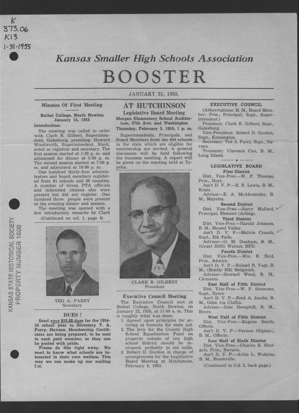 Kansas Smaller High Schools Association Booster - 1