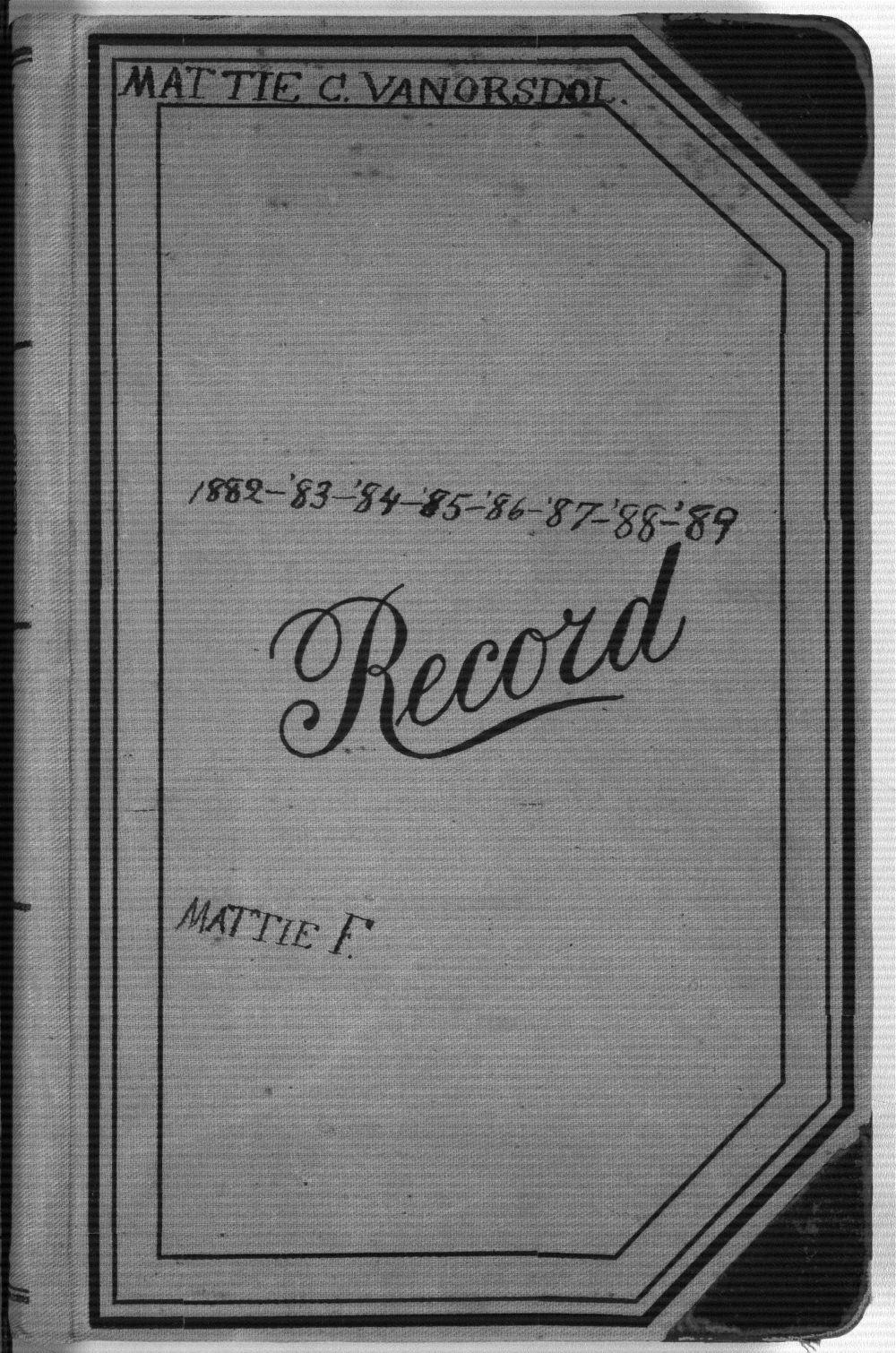 Martha Farnsworth diary - Front Cover