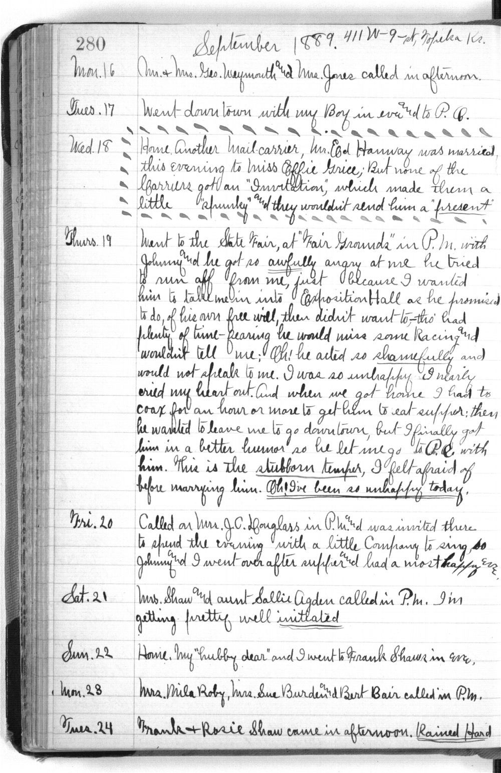 Martha Farnsworth diary - 280