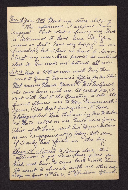 Martha Farnsworth diary - Jan 12, 1894