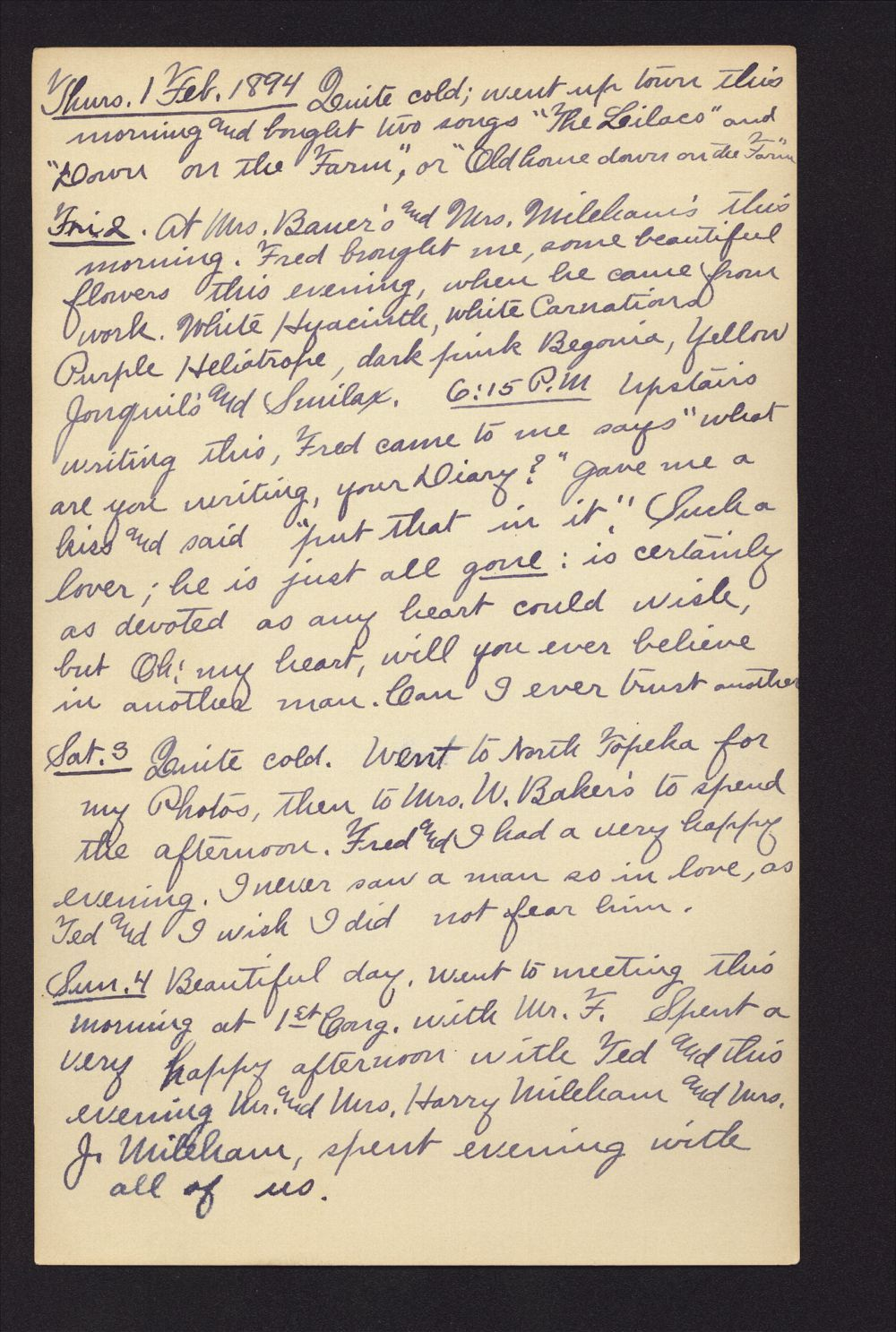 Martha Farnsworth diary - Feb 1, 1894
