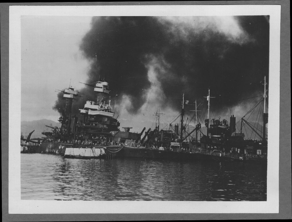 Attack on Pearl Harbor, Hawaii - The battleship USS California, which was damaged during the Pearl Harbor attack.