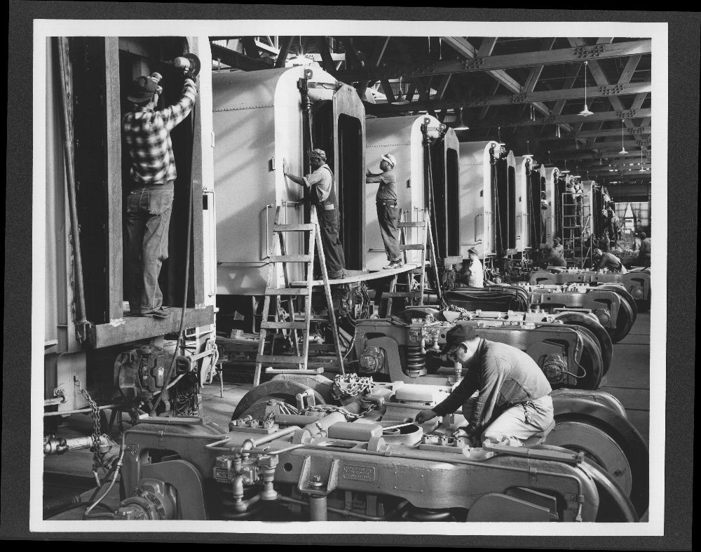 Atchison, Topeka and Santa Fe Railway Company shop employees, Topeka, Kansas