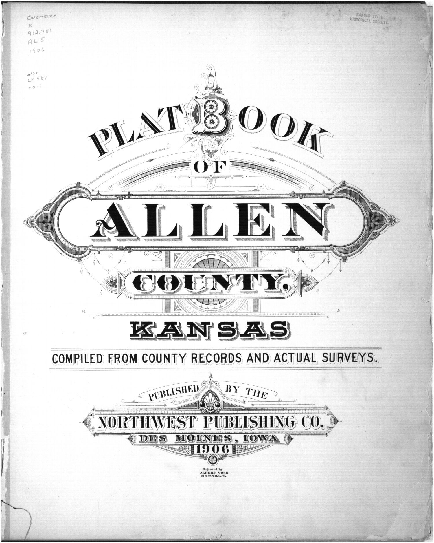 Plat book of Allen County, Kansas - Title Page