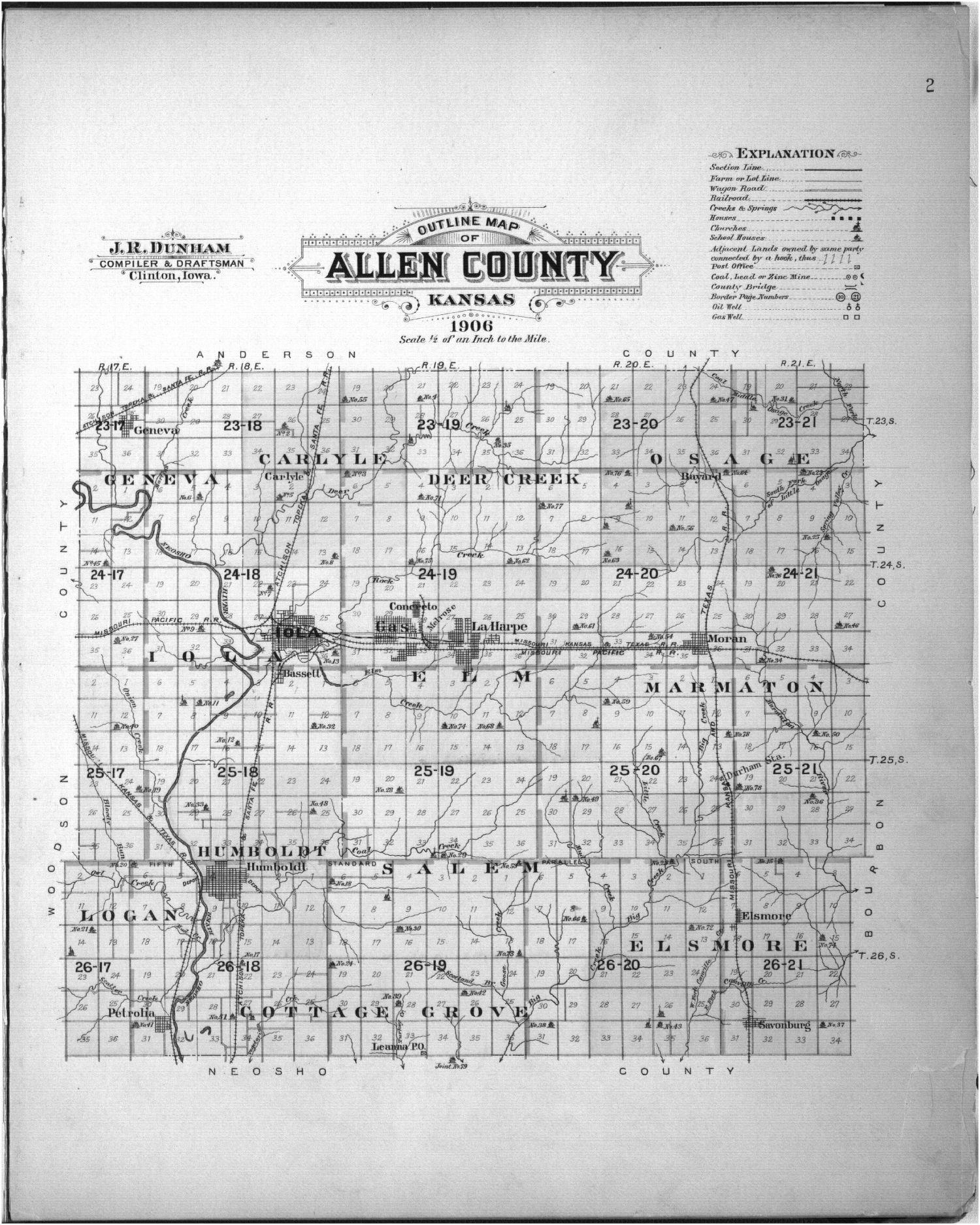 Plat book of Allen County, Kansas - 2