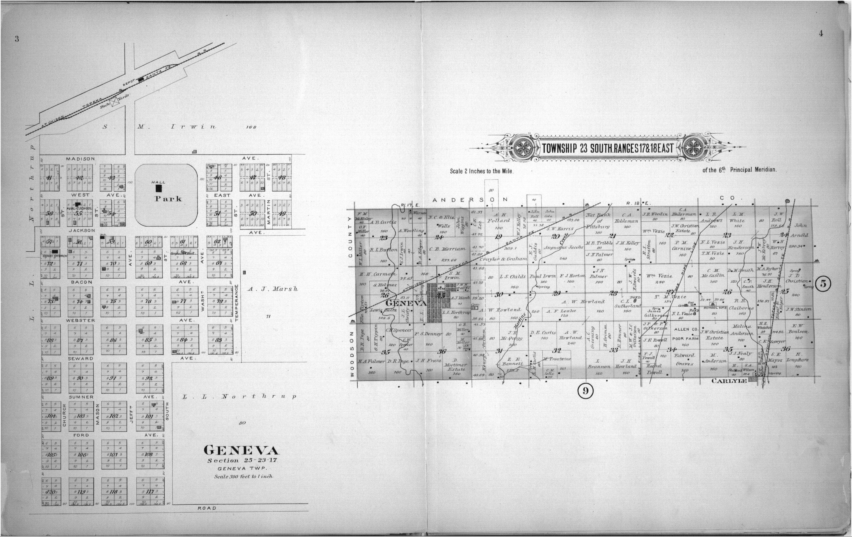 Plat book of Allen County, Kansas - 3 & 4