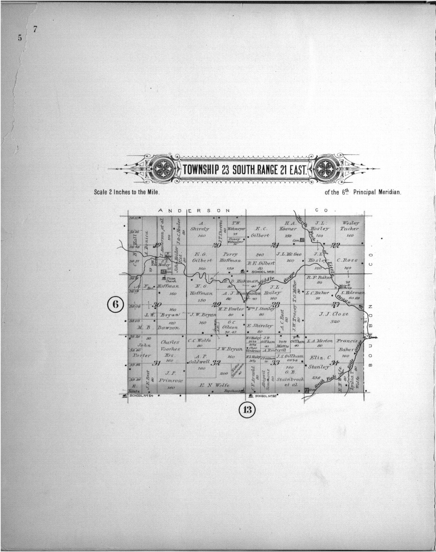 Plat book of Allen County, Kansas - 7
