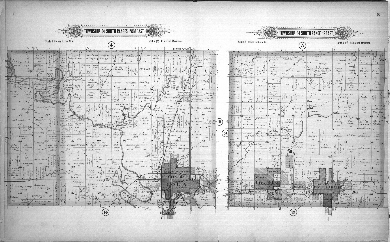 Plat book of Allen County, Kansas - 9 & 10