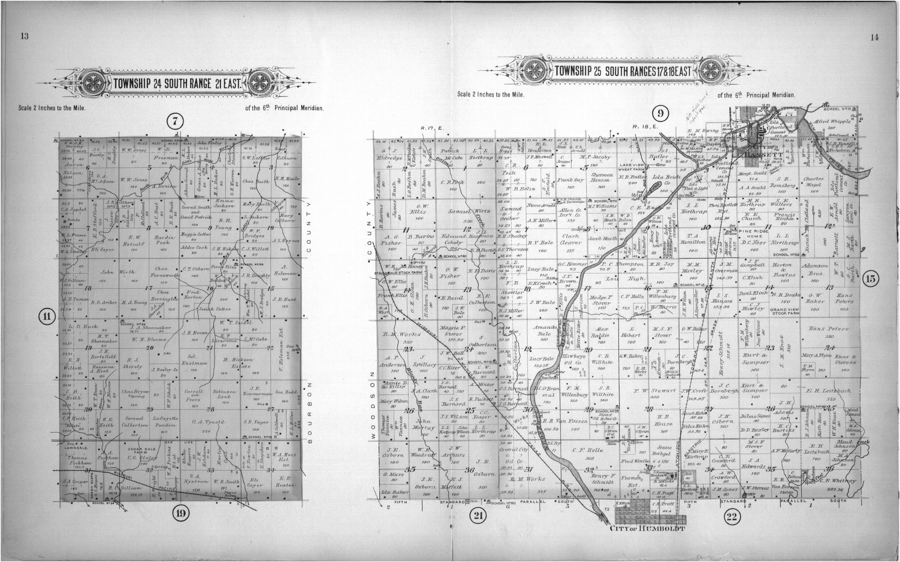 Plat book of Allen County, Kansas - 13 & 14