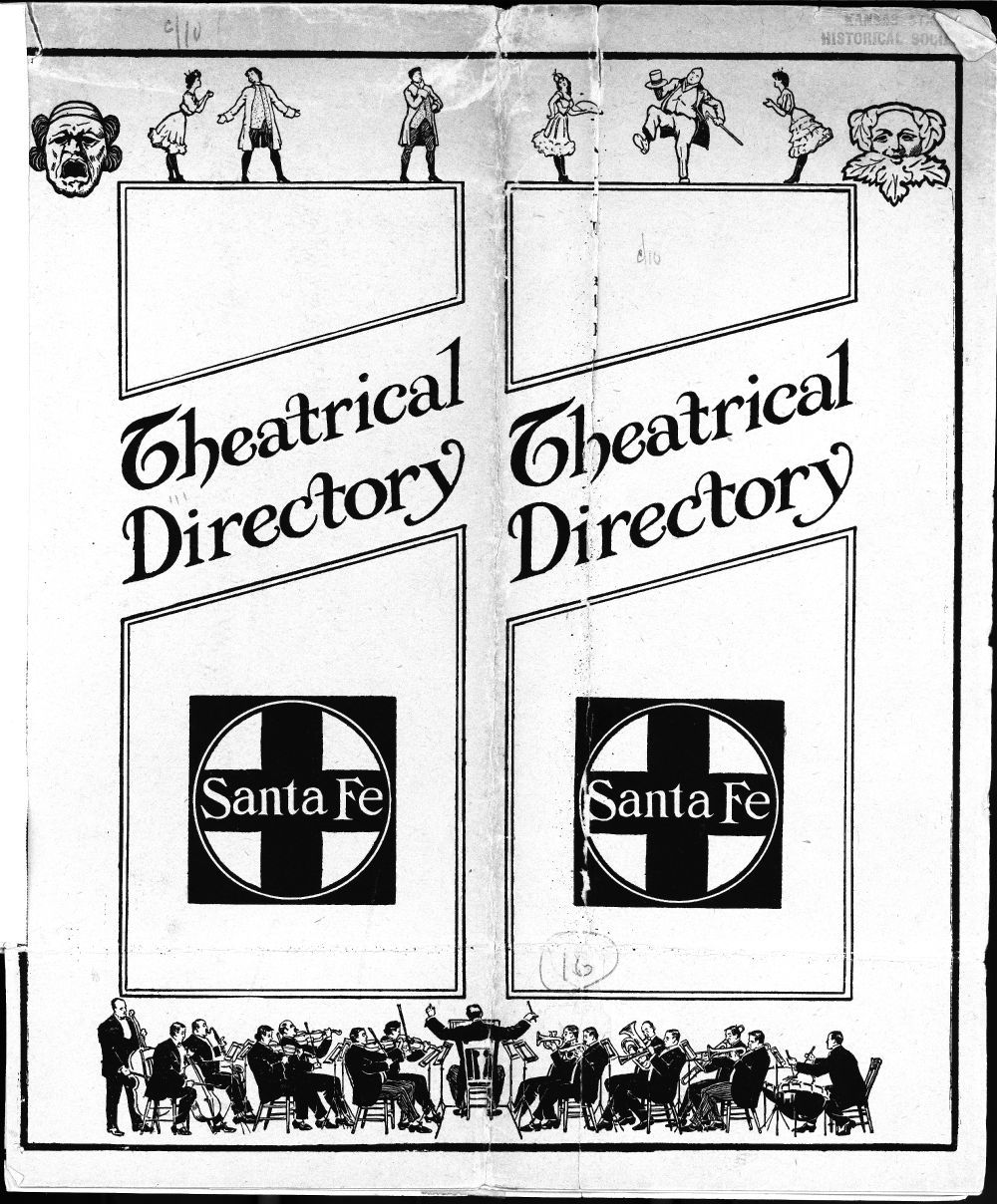 Atchison, Topeka and Santa Fe Railway Company's theatrical directory - Cover