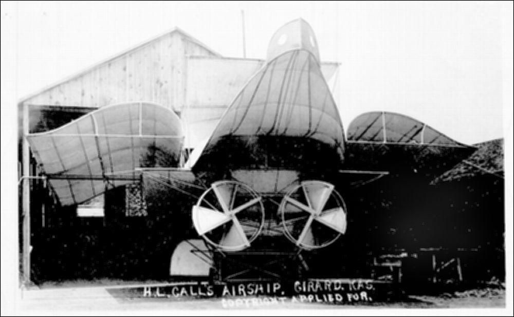 H.L. Call's airship built in Girard, Kansas - 1