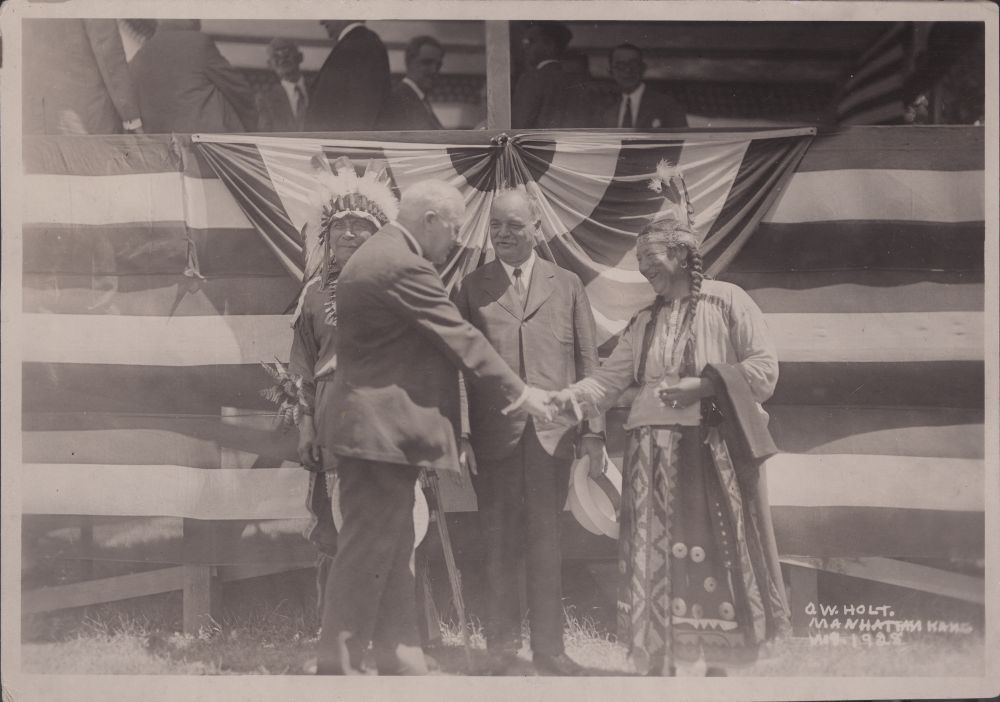 Benjamin S. Paulen and Charles Curtis, Pawnee, Kansas