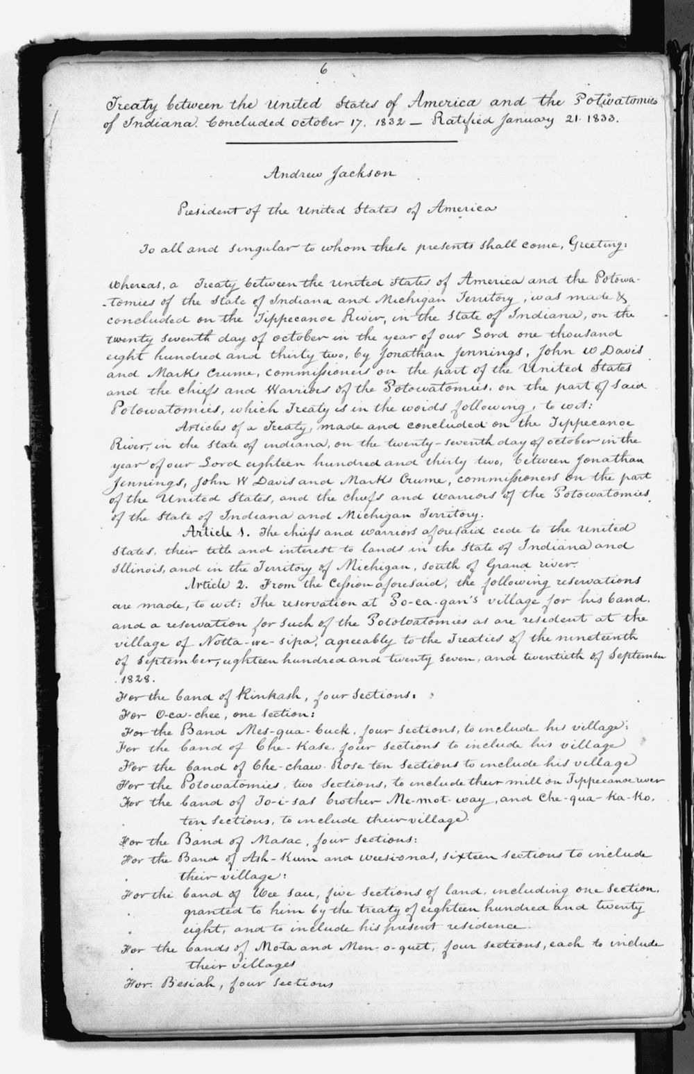 United States Office of Indian Affairs, Central Superintendency, St. Louis, Missouri. Volume 1, Field notes - 6