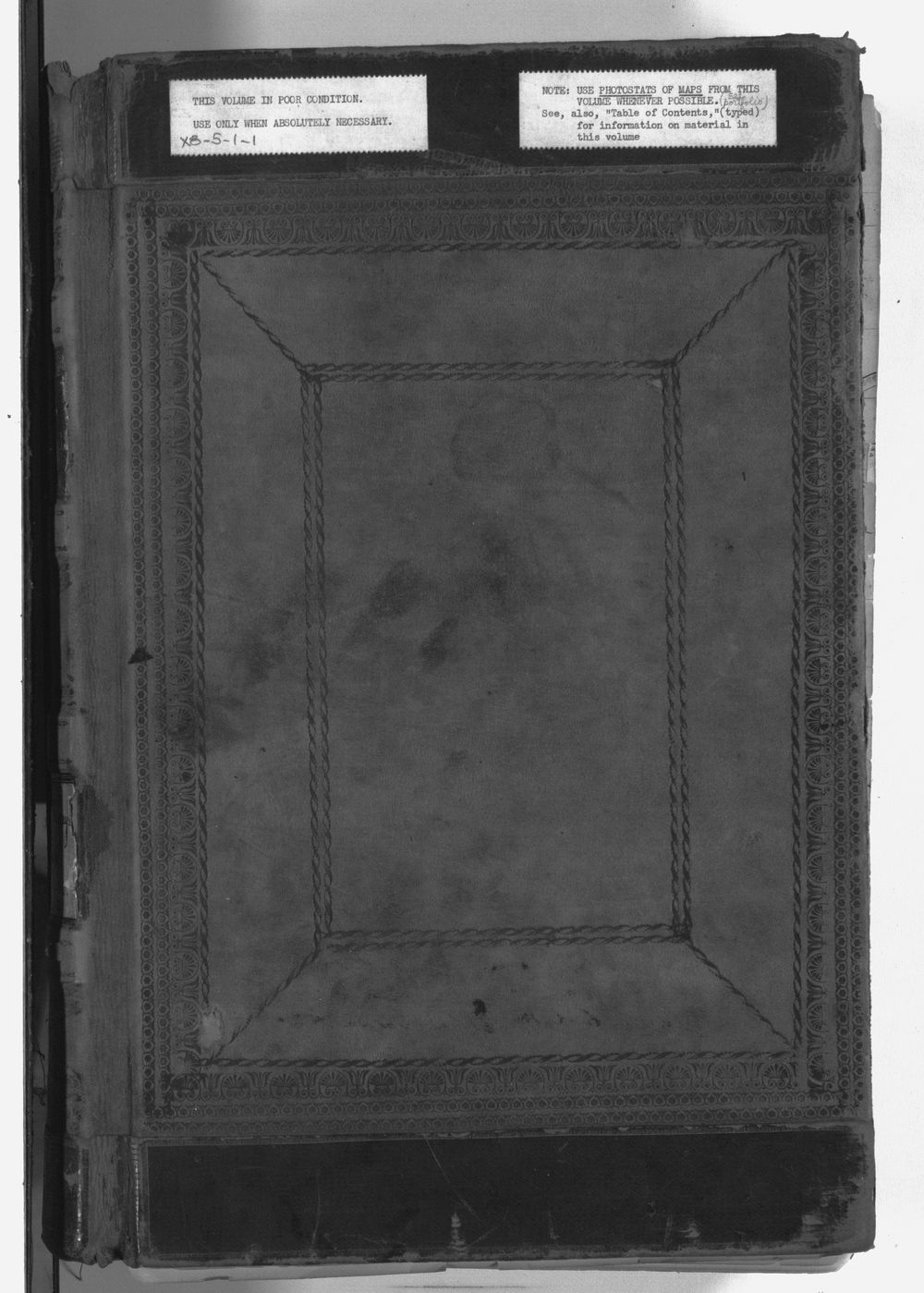United States Office of Indian Affairs, Central Superintendency, St. Louis, Missouri. Volume 1, Field notes - Front Cover