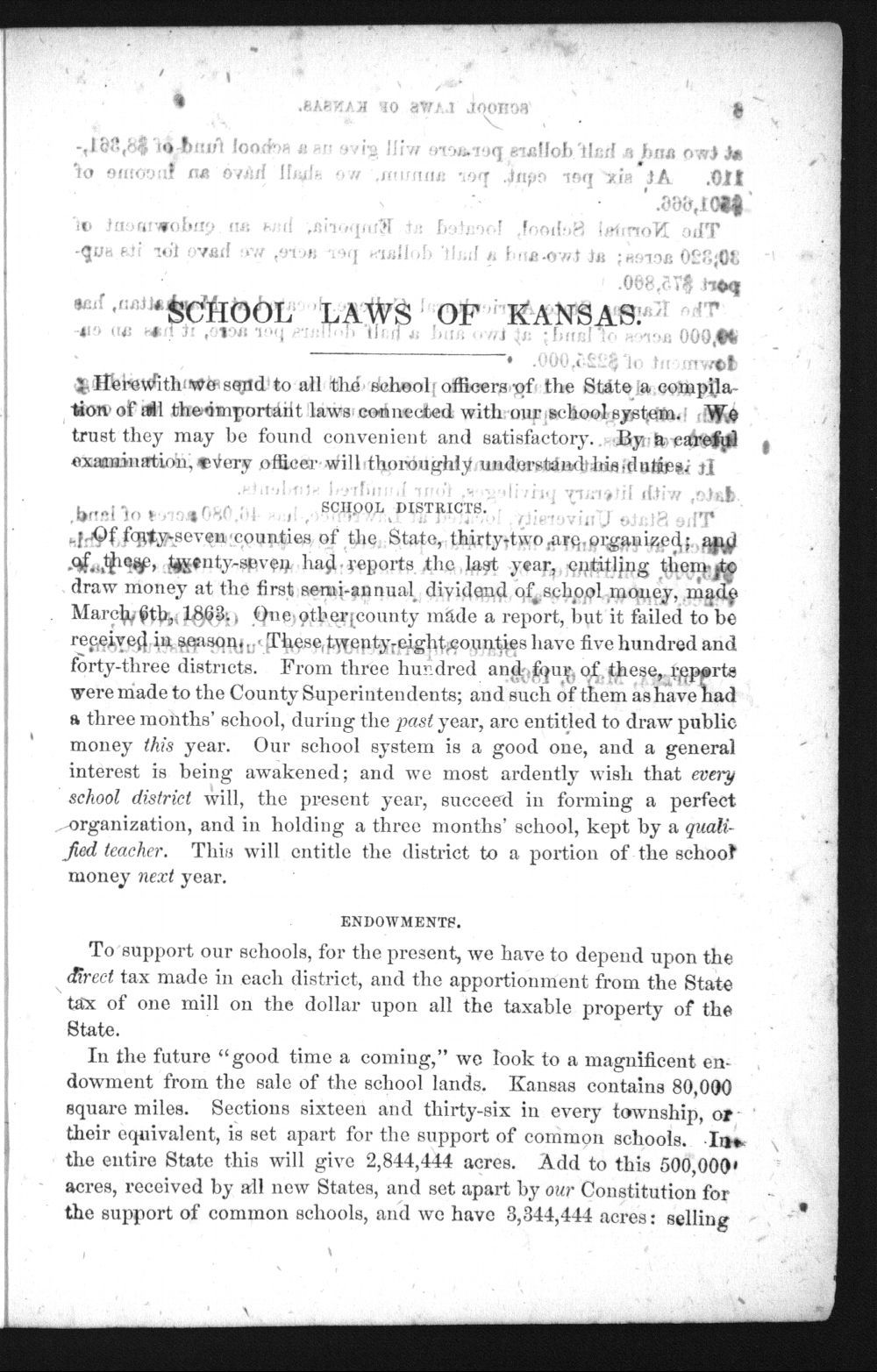 Laws and forms relating to common schools in the state of Kansas - 7