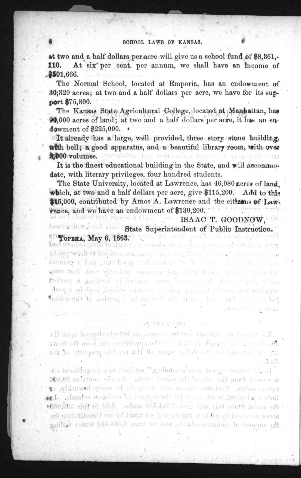 Laws and forms relating to common schools in the state of Kansas - 8
