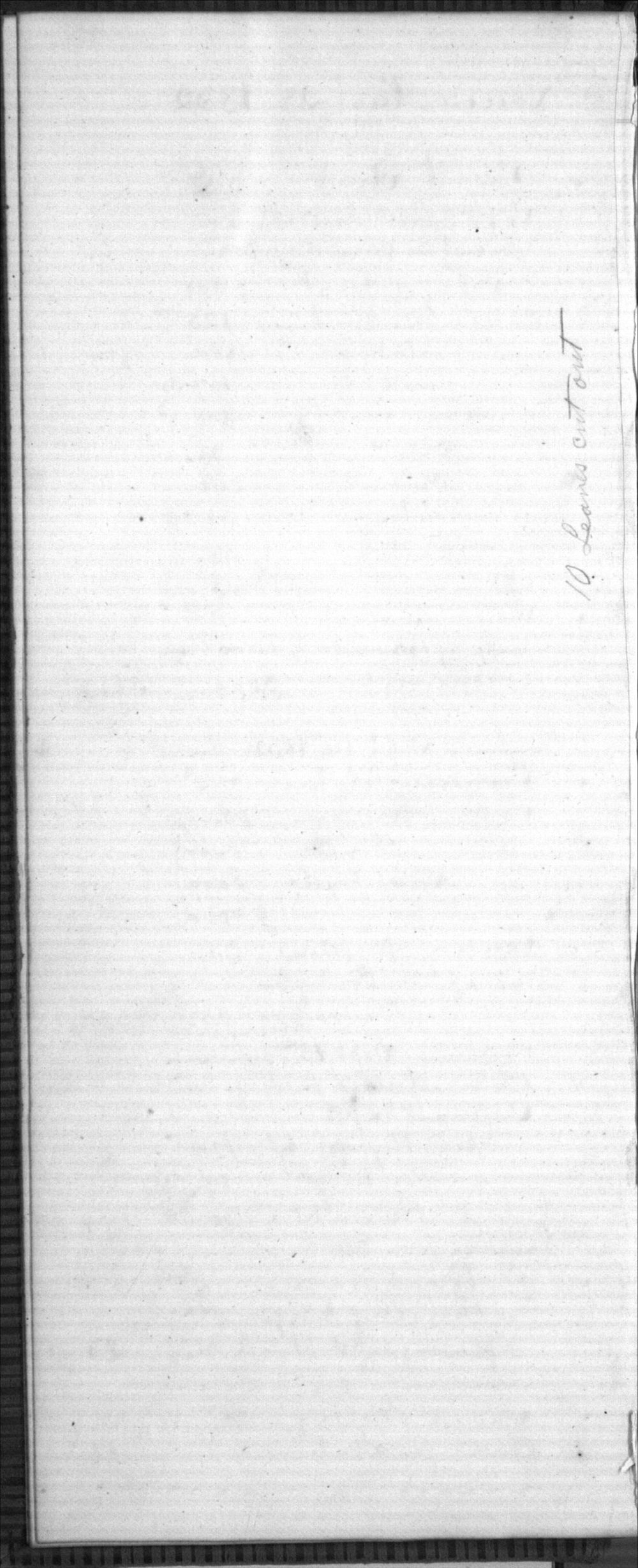 United States Office of Indian Affairs, Central Superintendency, St. Louis, Missouri. Volume 10, Daybook - no page number