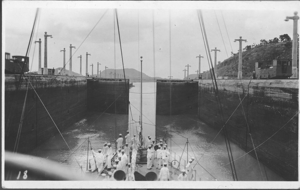 USS New Orleans going through the Panama Canal